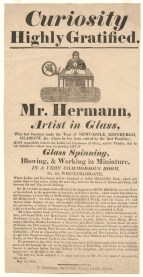 Advertisement for glassworker