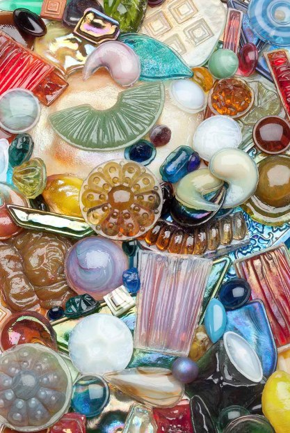 "Selection of glass ""jewels,"" about 1890-1920."