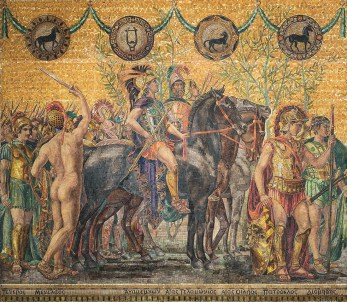 Completed left panel of frieze, Heroes and Heroines of the Homeric Story.