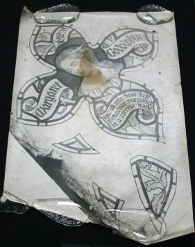 A silver gelatin photograph of one of the original cartoons