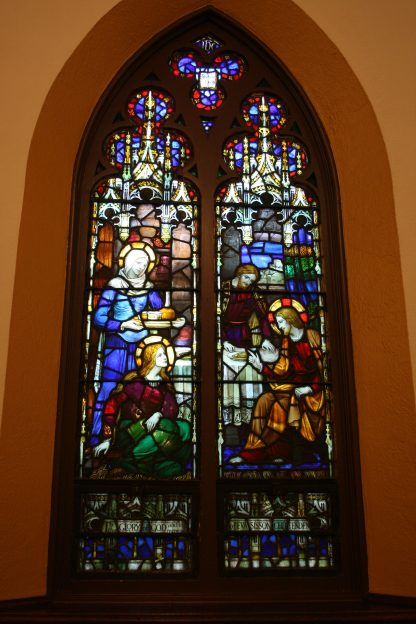 The full Whitefriars window at Trinity Church in Binghamton, NY.