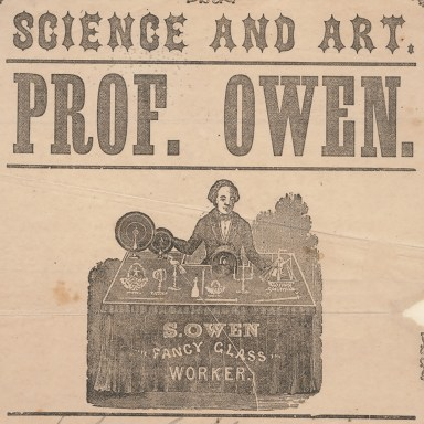 S. Owen styled himself as a professor and featured many scientific experiments and displays in his exhibition.