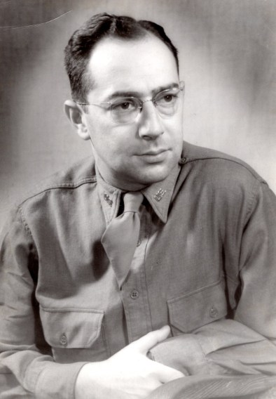 Roberta's father in his U.S. Army uniform, about 1945.