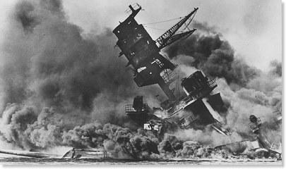 USS Arizona at Pearl Harbor