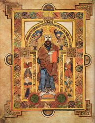 Book of Kells, Christ Enthroned