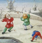 Snowball fight. flemish
