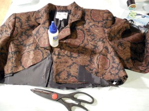 Corset and Jacket project - Shaping the Jacket, Making it symmetrical