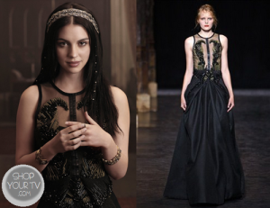 Mary from Reign in Black Dress