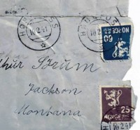 Stamps and Postmark on Nazi Ltter