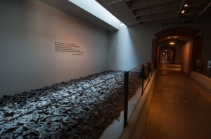 Room of shoes at the US Holocaust Memorial Museum