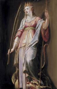 St. Margaret of Antioch painting