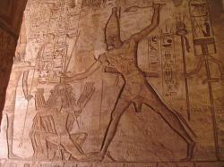 Ramessess II vanquishing in enemies