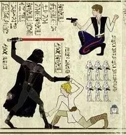 Star Wars as ancient Egyptian art