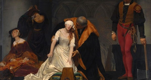 Jane Grey's execution, 19th century painting