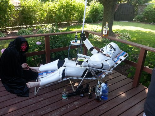 GISHWHES: pampering a Stormtrooper