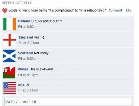 Scotland's Facebook post