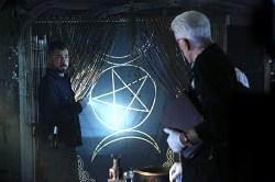 Giant triple moon and pentagram on CSI episode