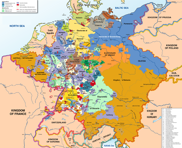 Holy Roman Empire map in 1789