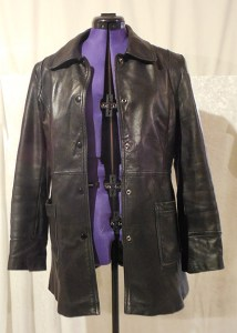 Leather jacket used as base of bolero project