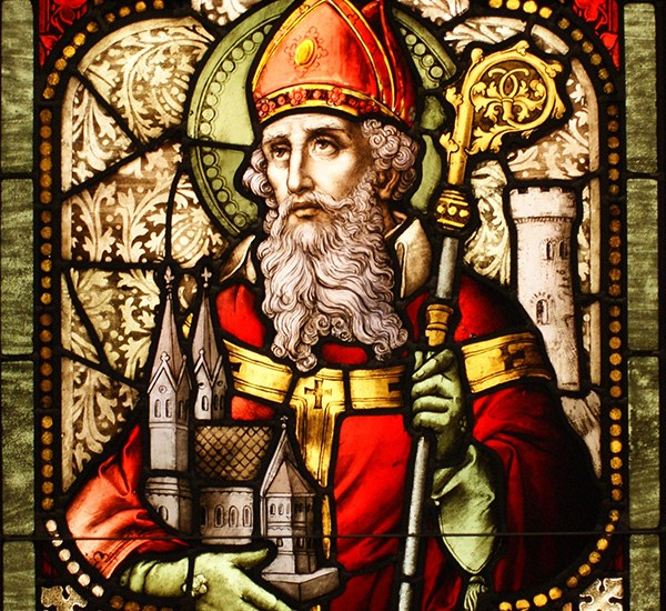 St. Patrick stain glass window