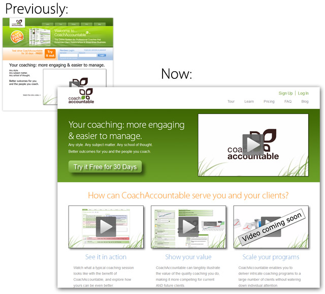 Redesignd Homepage