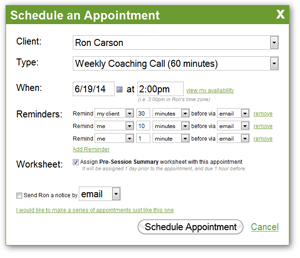 Engagement through Appointments