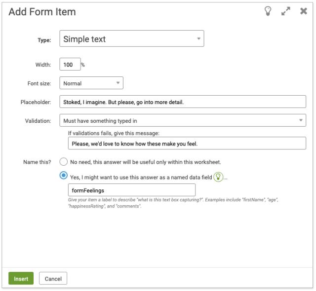 Add a simple text field