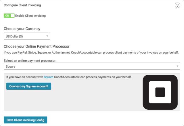 Online coaching platform now accepts Square payments