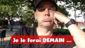 COACHING David KOMSI : Vidéo 7 - Gestion du temps : La technique pour NE PLUS JAMAIS remettre à plus tard !