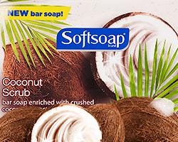 Softsoap Coconut Scrub Bar Soap