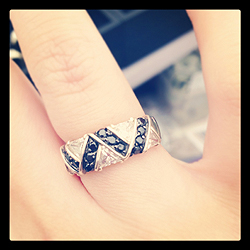 Black and White CZ ring