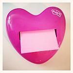 Post-It Notes Pop-up Heart Dispenser