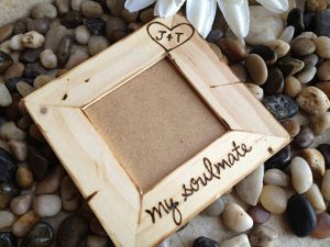 Personalized Rustic 'My Soulmate' Picture Frame by PrinceWhitaker
