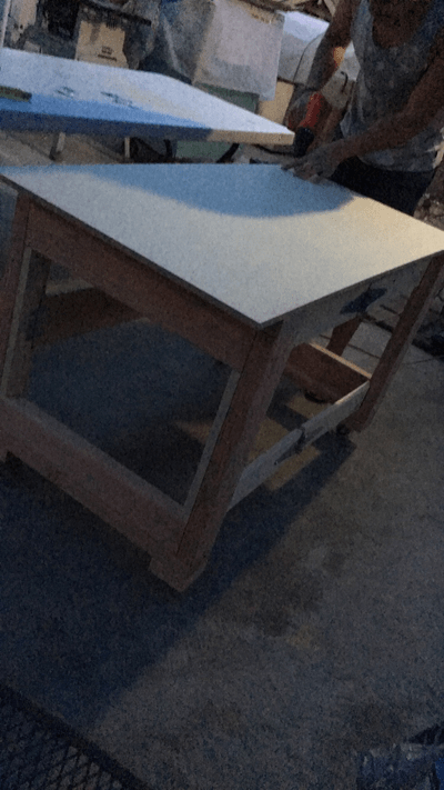 Completed Folding Table