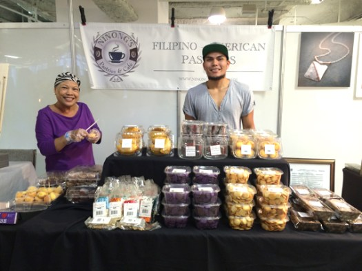 My mom and Charlie selling pastries at Unique LA