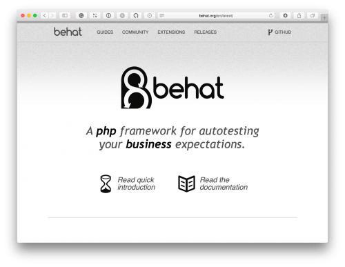 Behat — A PHP framework for autotesting your business expectations.