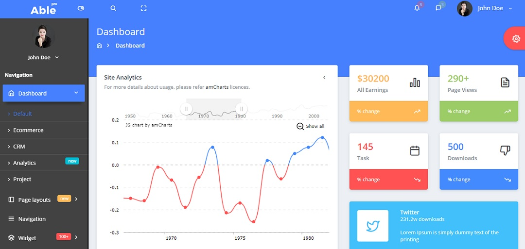 Able Pro 7.0 Bootstrap Admin Template