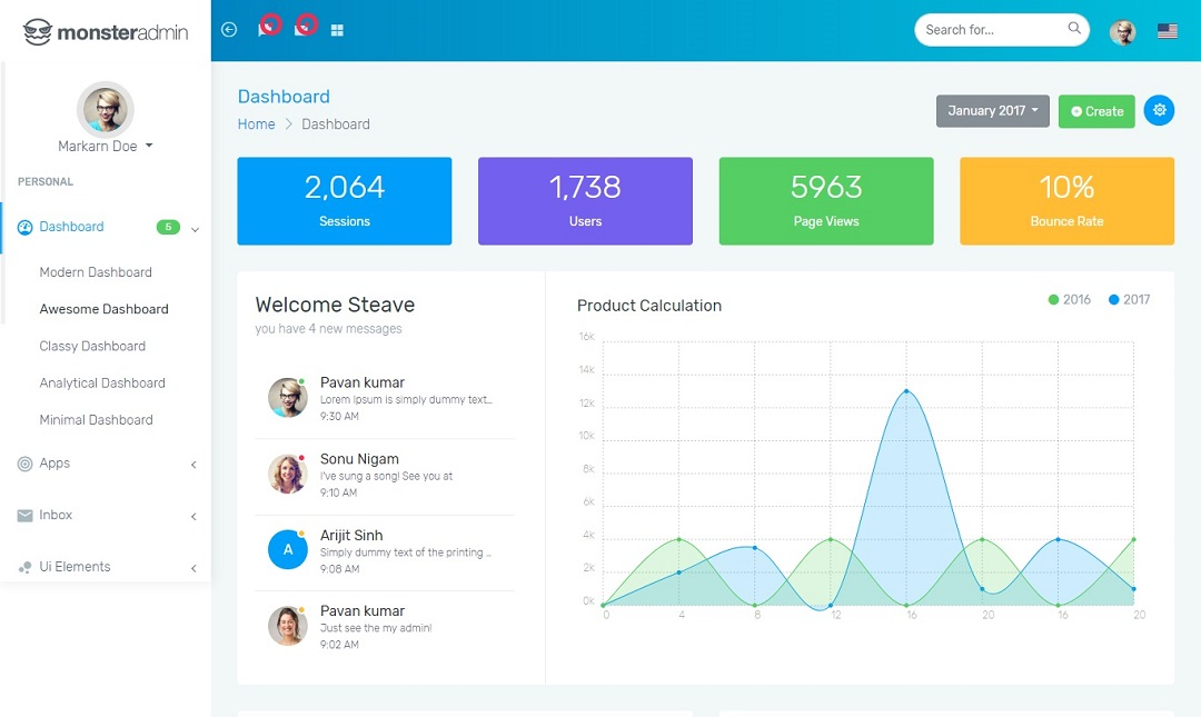 monster bootstrap 4 admin-template