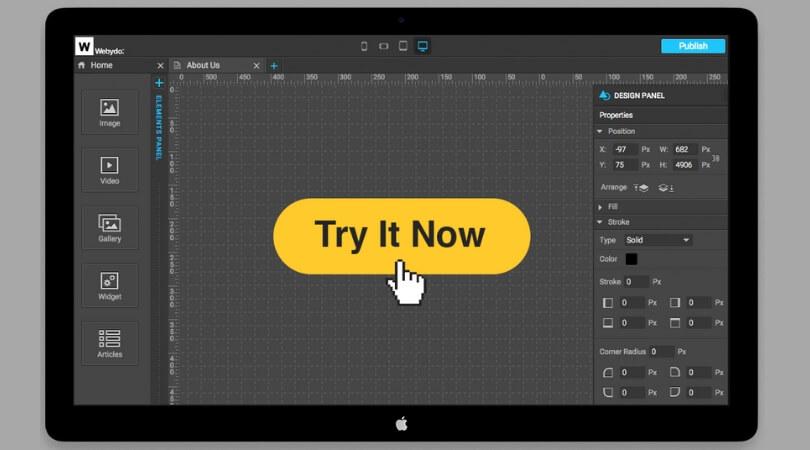 Webydo - web designer editor tools