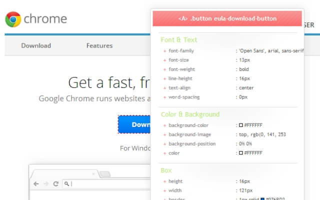 CSS Viewer chrome extension - codedthemes