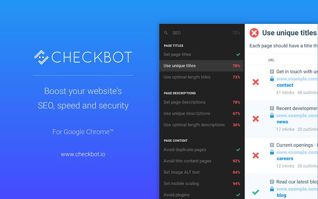 Checkbot chrome extension - codedthemes