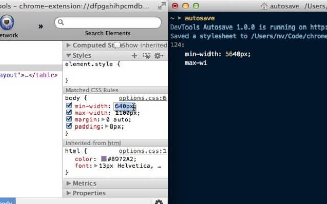DevTools Autosave chrome extension - codedthemes
