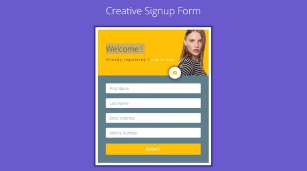 Bootstrap login and registration forms
