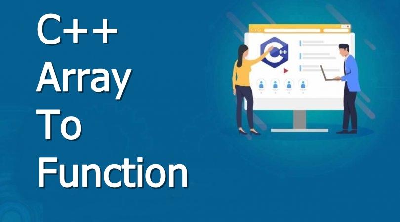 c plus plus array to function