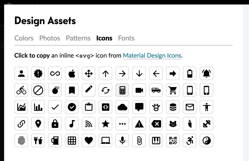 - design assets - A Free Template for JavaScript Library Homepages