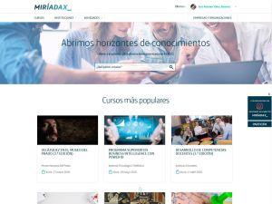 Imagen de la página de presentación de MiríadaX