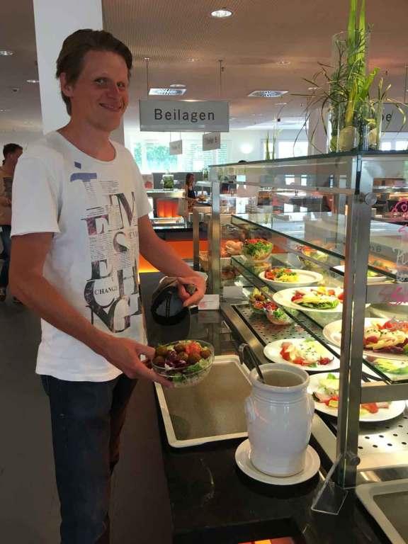 Alexander Gerner lunch at Porsche cafeteria