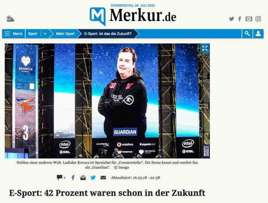 Press: Merkur E-Sports: 42 percent were already in the future