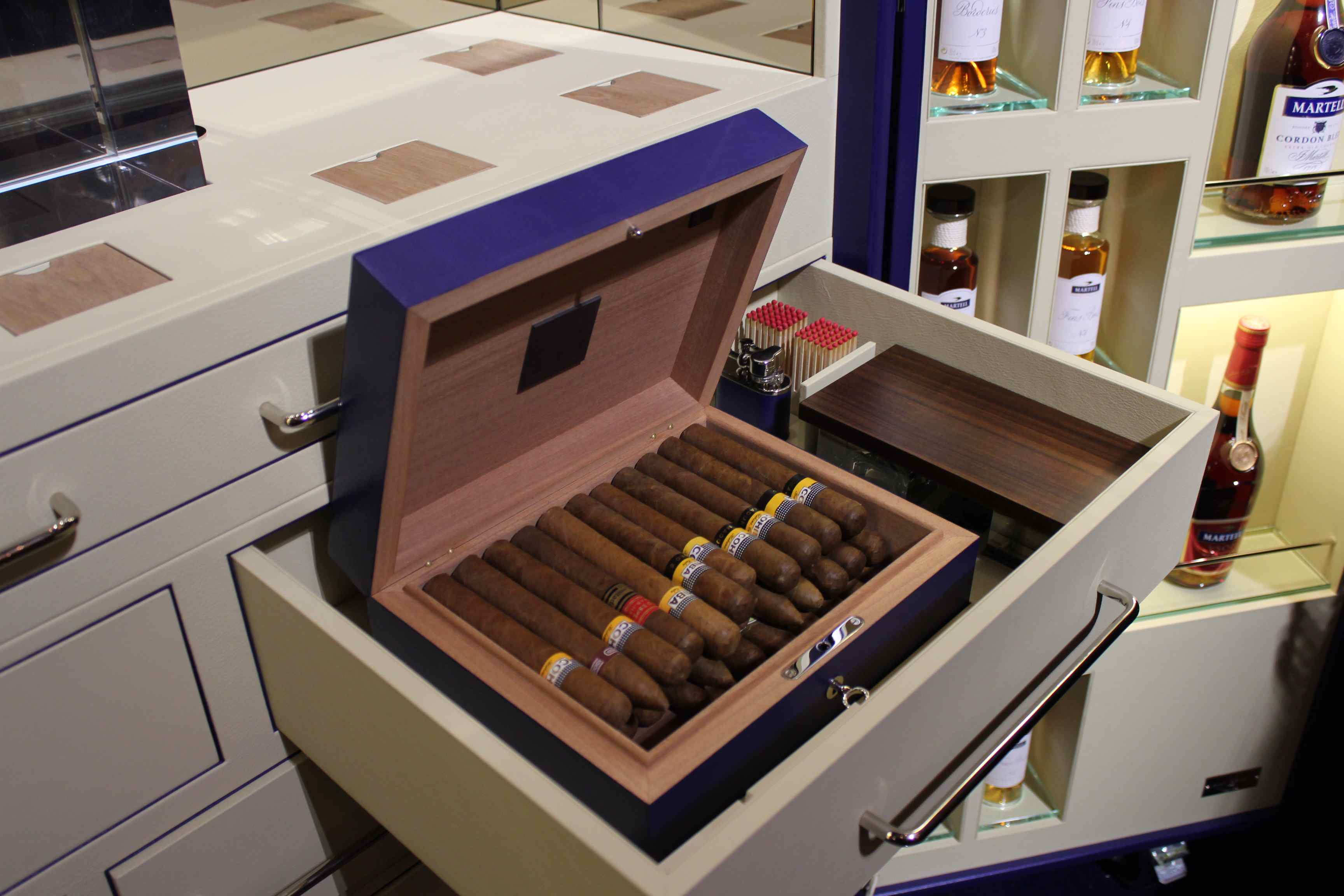 Humidor in the trunk