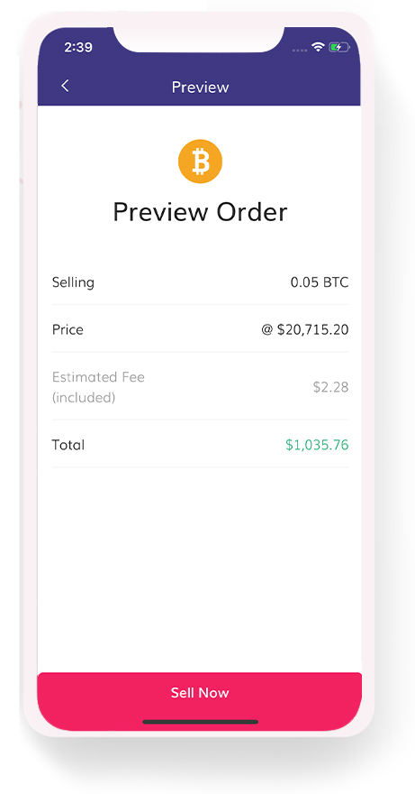 bitcoin buy order preview